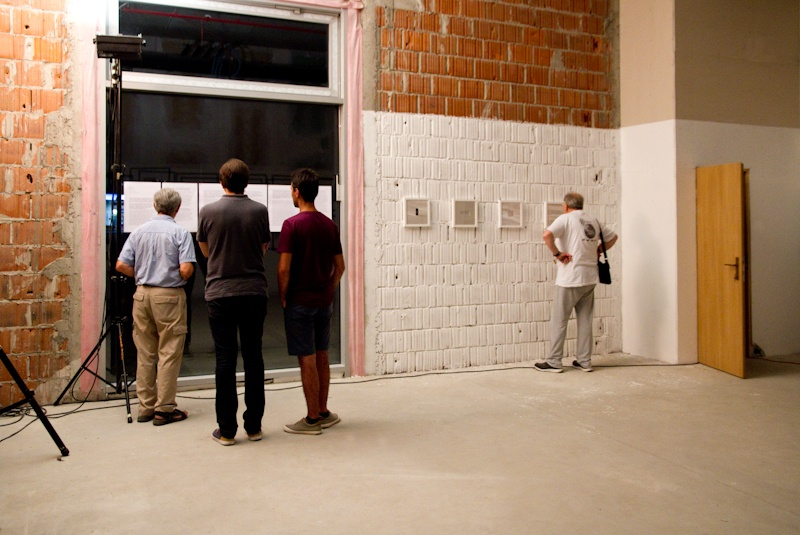 Andrea Knezovic Story of the I popup solo exhibition opening photography people reading
