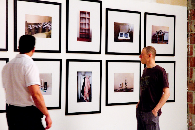 Andrea Knezovic Story of the I popup solo exhibition opening photography people